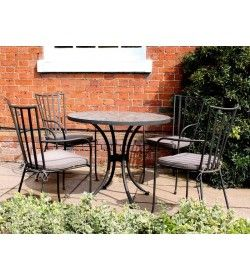 Speckled Hen Round 4 Chair Dining Set