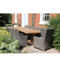 Valencia 14 Chair Wing Back Dining Set