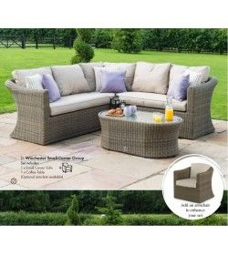 Winchester Small Corner Sofa Set & Chair