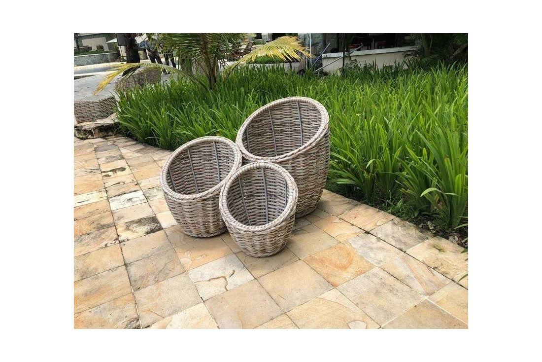 Fiji Flower Baskets - Set Of Three
